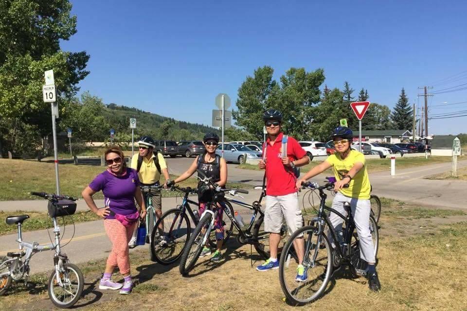 CISC Family Biking at Glenmore
