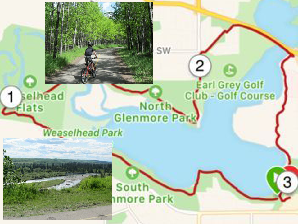 Family Biking at Glenmore Reservoir